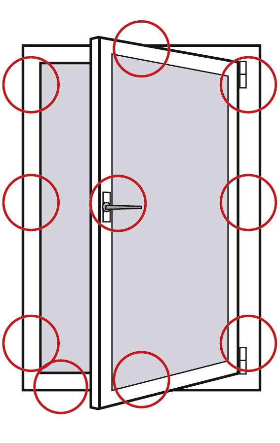 Sicherheitsstufe 2: Fenster rundum gesichert