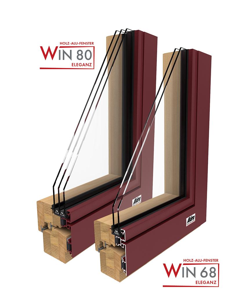 Baureihen Holz-Aluminium Fenster